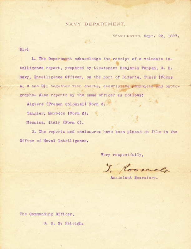 Image 1 for President Theodore Roosevelt - Typed Letter Signed 09/22/1897 - HFSID 41904