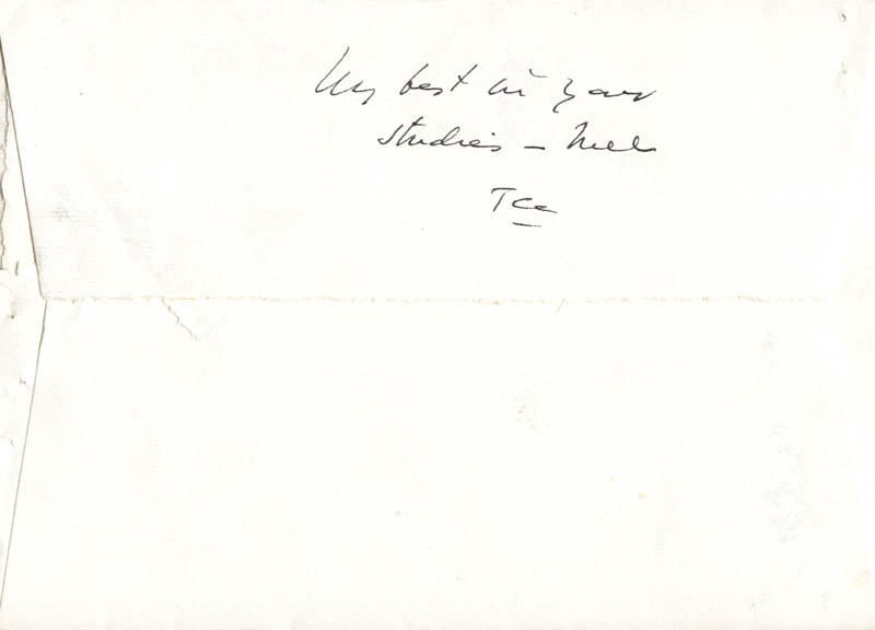 Image 1 for Associate Justice Tom C. Clark - Autograph Envelope Signed Circa 1961 - HFSID 41927
