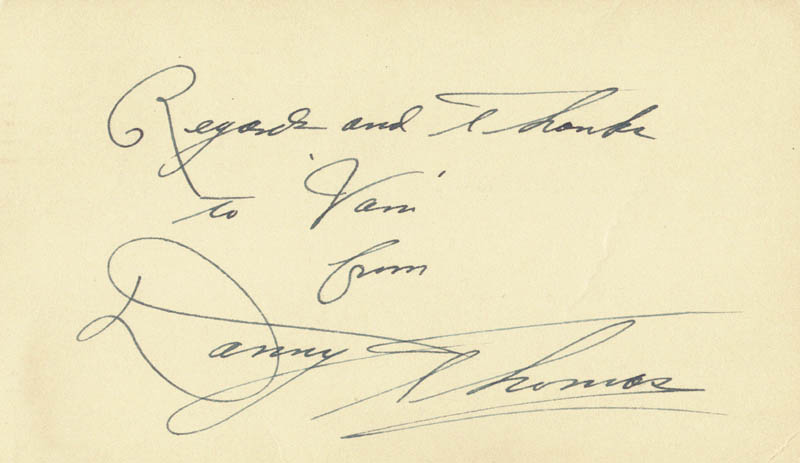 Image 1 for Danny Thomas - Autograph Note Signed 05/03/1949 - HFSID 4201