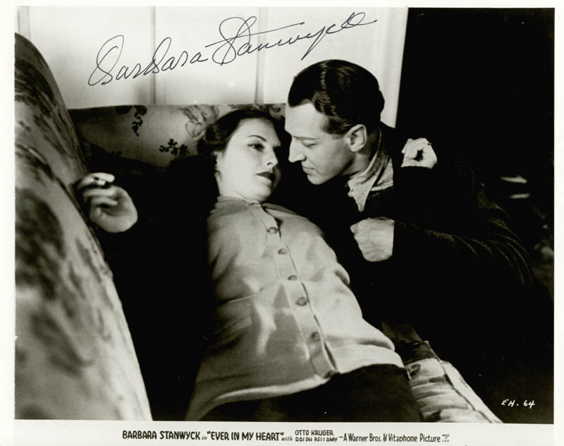 Image 1 for Barbara Stanwyck - Autographed Signed Photograph - HFSID 42110