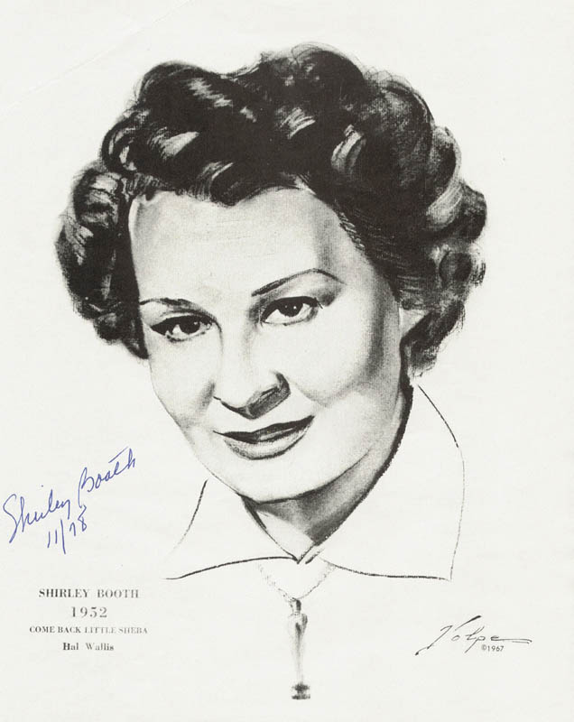 Image 1 for Shirley Booth - Illustration Signed 11/1978 - HFSID 42157