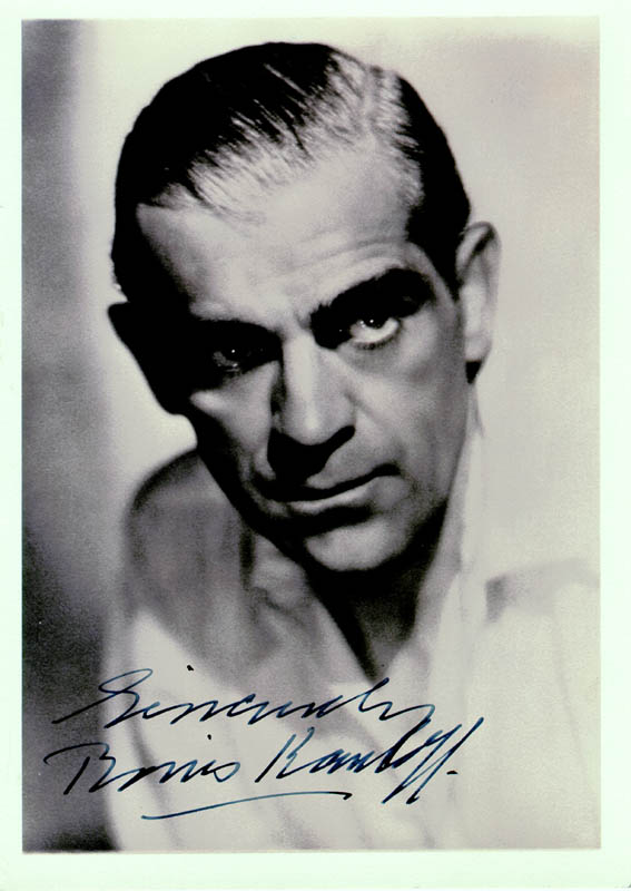 Image 1 for Boris Karloff - Autographed Signed Photograph - HFSID 42344