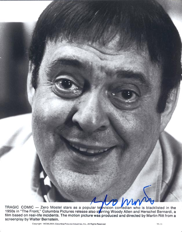 Image 1 for Zero Mostel - Autographed Signed Photograph - HFSID 42531