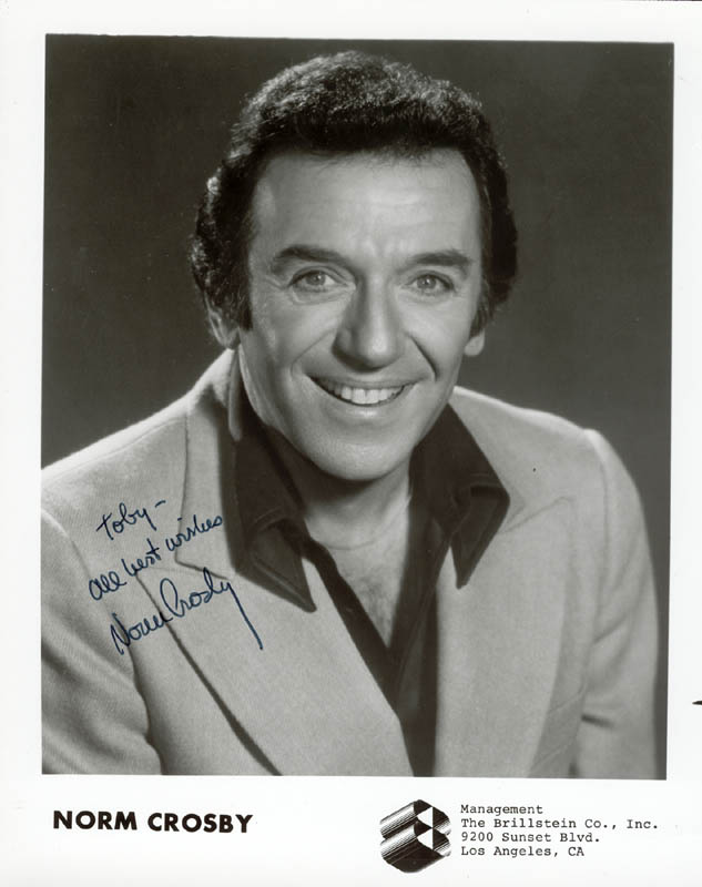 Image 1 for Norm Crosby - Autographed Inscribed Photograph - HFSID 42682