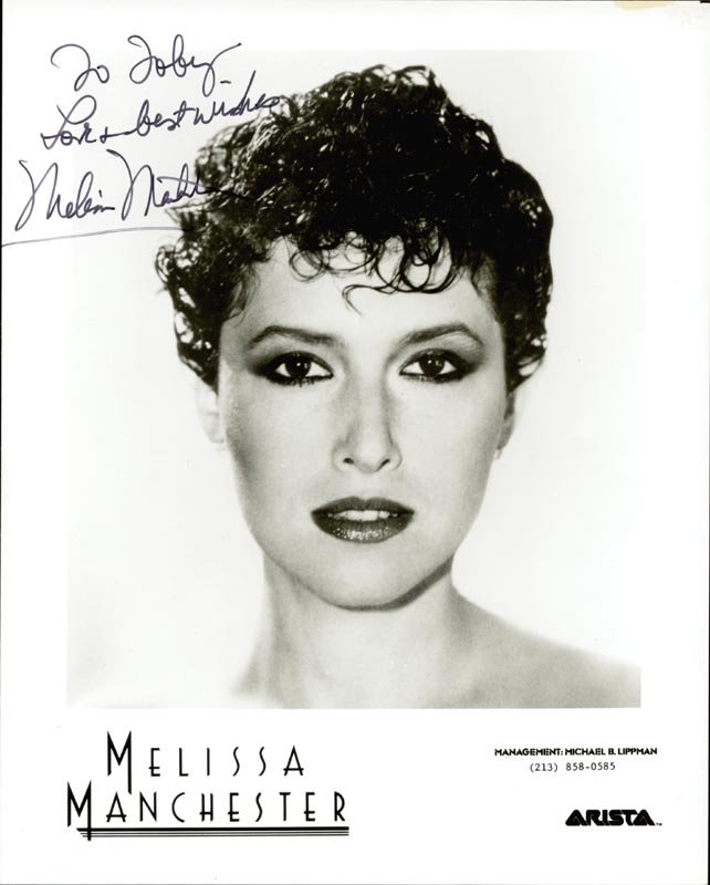Image 1 for Melissa Manchester - Autographed Inscribed Photograph - HFSID 42694