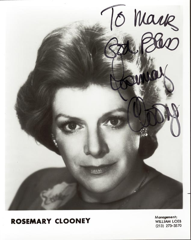Image 1 for Rosemary Clooney - Autographed Inscribed Photograph - HFSID 4273