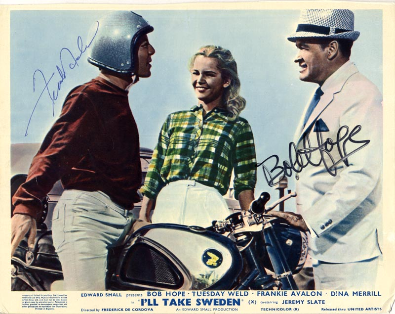 Image 1 for I''Ll Take Sweden Movie Cast - Autographed Signed Photograph co-signed by: Bob Hope, Frankie Avalon - HFSID 42730