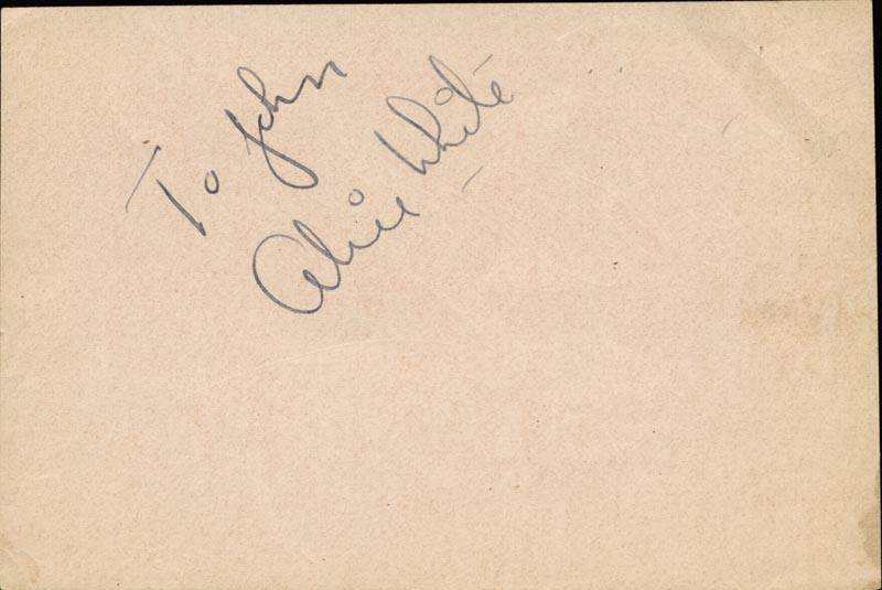 Image 3 for Lew Ayres - Autograph co-signed by: Alice White - HFSID 42776