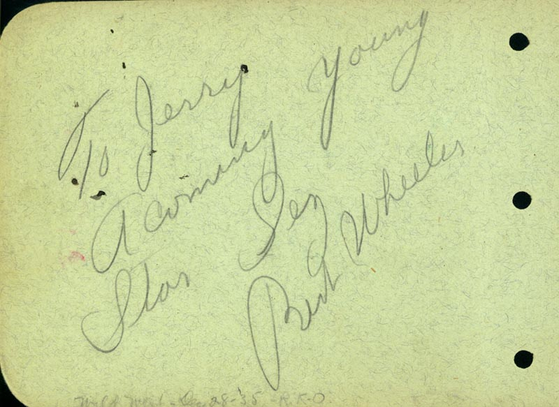 Image 3 for Robert Montgomery - Autograph Note Signed co-signed by: Bert Wheeler - HFSID 42810