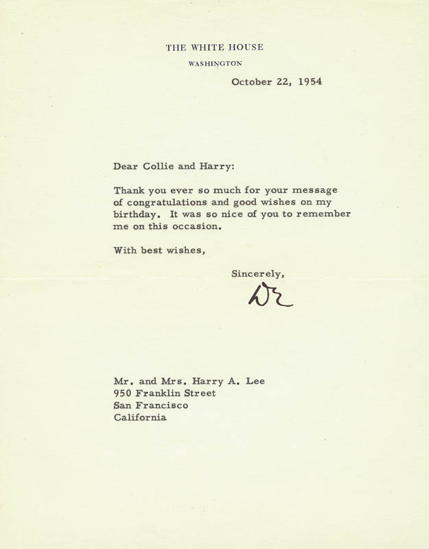Image 1 for President Dwight D. Eisenhower - Typed Letter Signed 10/22/1954 - HFSID 42885