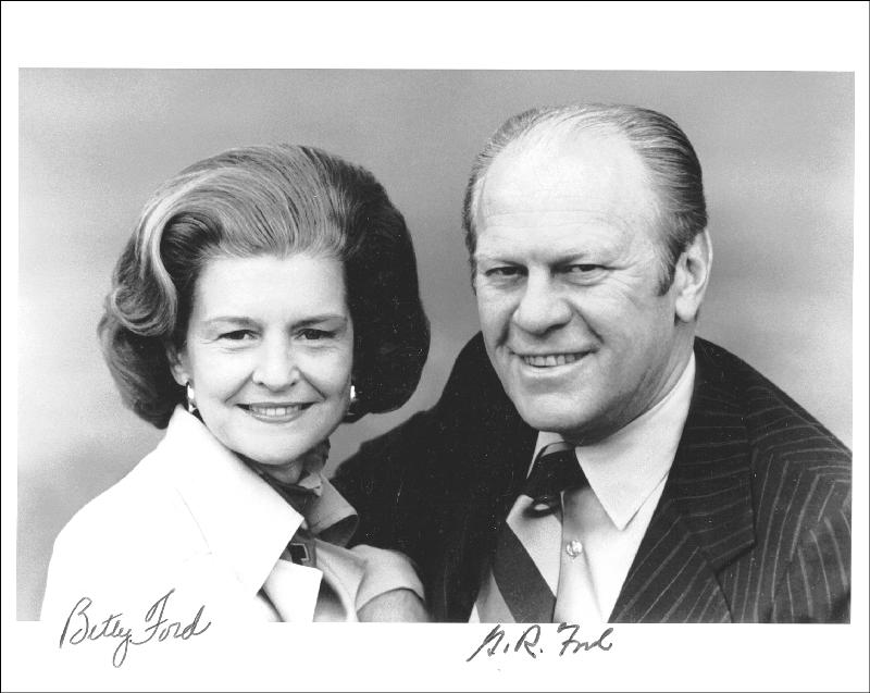 Image 1 for President Gerald R. Ford - Autographed Signed Photograph co-signed by: First Lady Betty Ford - HFSID 42918