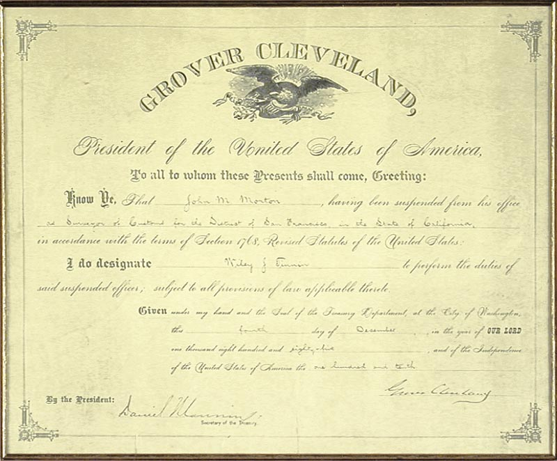 Image 3 for President Grover Cleveland - Civil Appointment Signed 12/04/1885 co-signed by: Daniel Manning - HFSID 43178