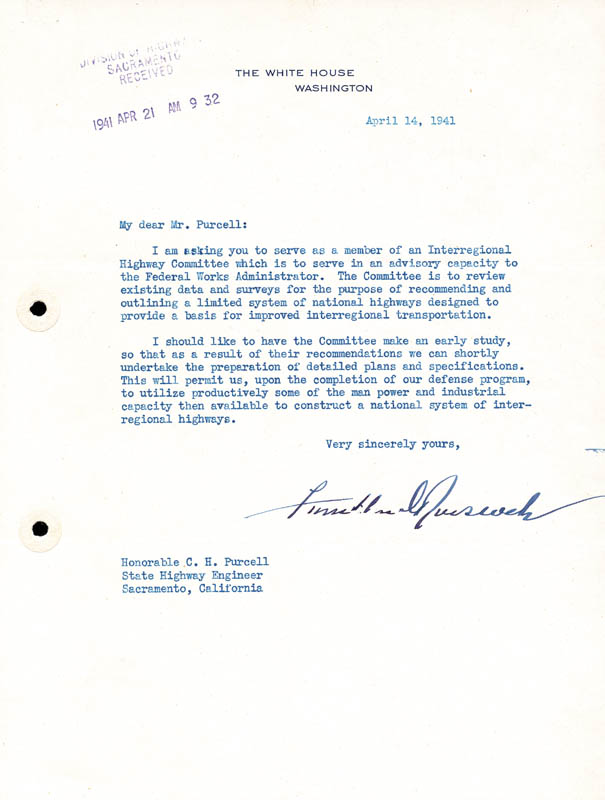 Image 1 for President Franklin D. Roosevelt - Typed Letter Signed 04/14/1941 - HFSID 43181