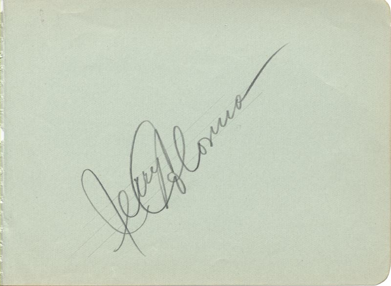 Image 1 for Jerry Colonna - Autograph - HFSID 43221