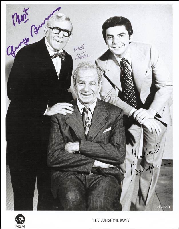 Image 1 for The Sunshine Boys Movie Cast - Autographed Signed Photograph co-signed by: Walter Matthau, George Burns, Richard Benjamin - HFSID 43325
