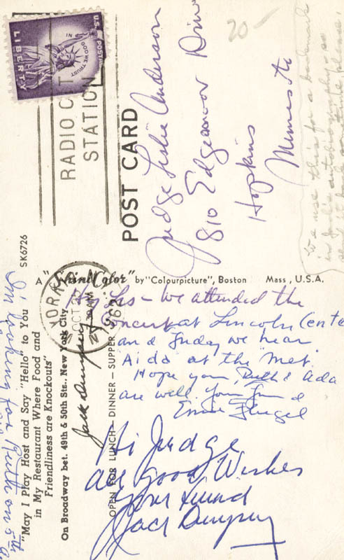 Image 1 for Jack Dempsey - Autograph Note Signed - HFSID 43336