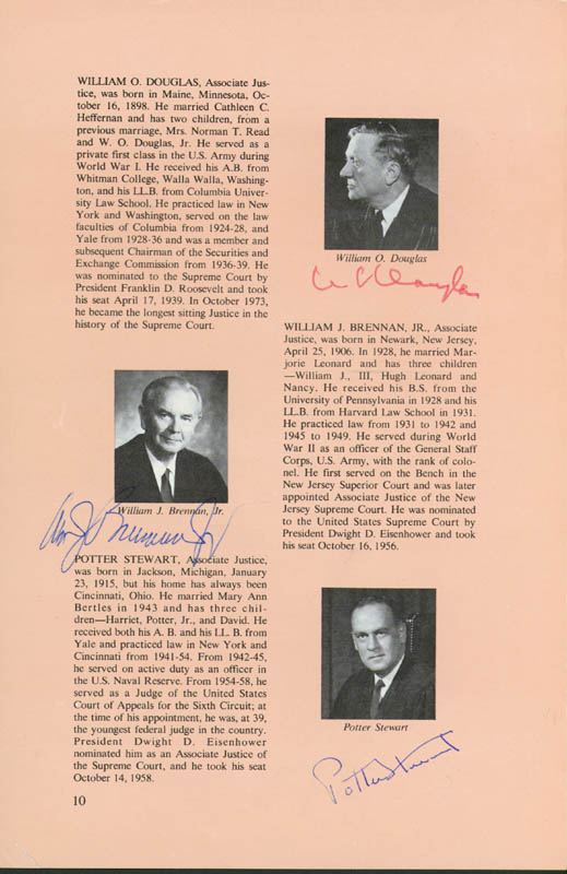 Image 3 for Chief Justice Warren E. Burger - Book Page Signed Circa 1973 with co-signers - HFSID 43443