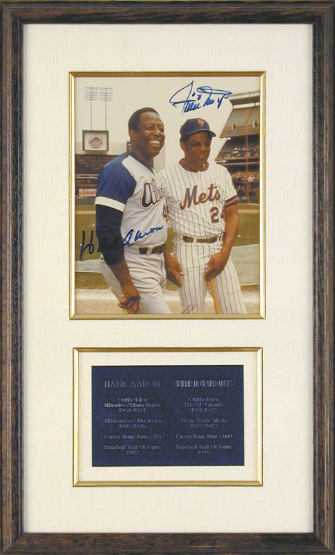 Image 1 for Hank Aaron - Autographed Signed Photograph co-signed by: Willie 'Say Hey Kid' Mays - HFSID 43506