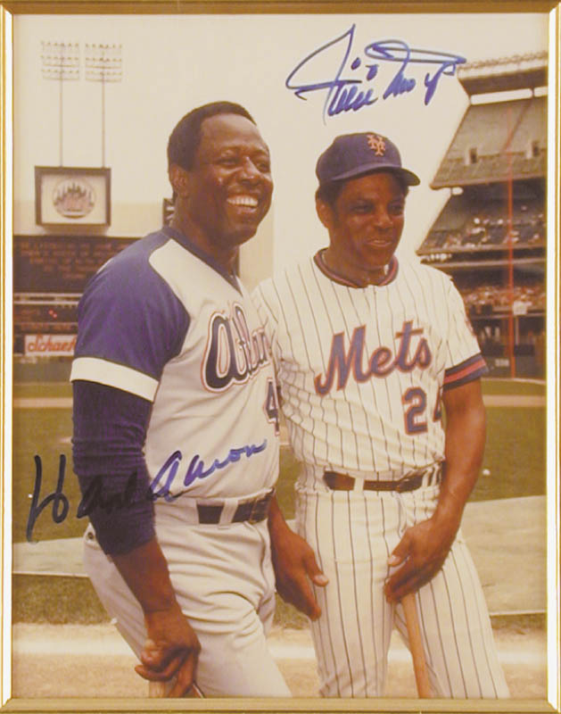 Image 3 for Hank Aaron - Autographed Signed Photograph co-signed by: Willie 'Say Hey Kid' Mays - HFSID 43506