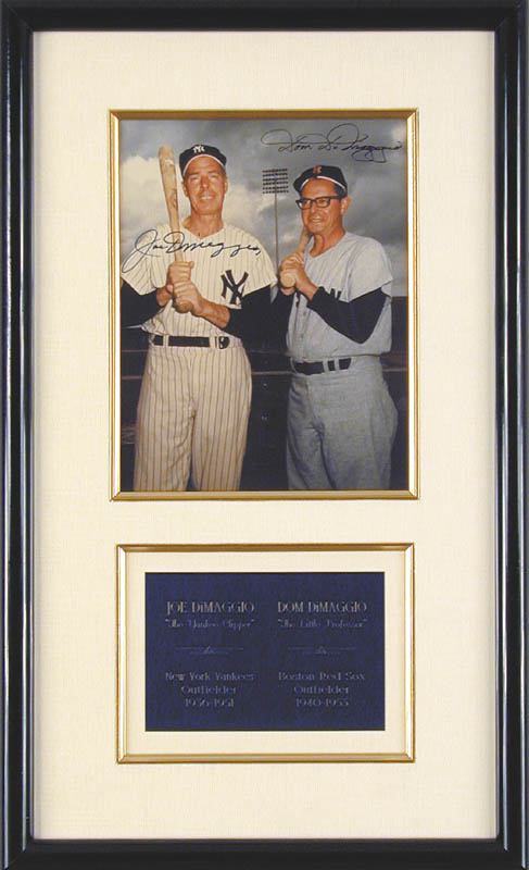 Image 1 for Joe Dimaggio - Autographed Signed Photograph co-signed by: Dom Dimaggio - HFSID 43566