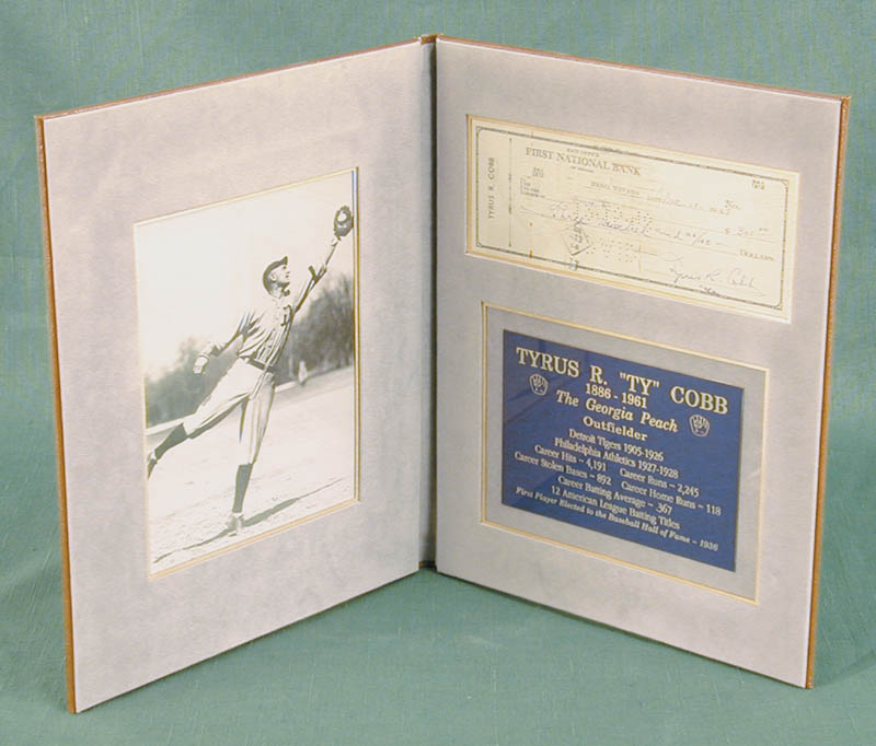 Image 1 for Ty Cobb - Autographed Signed Check 12/10/1948 - HFSID 43578