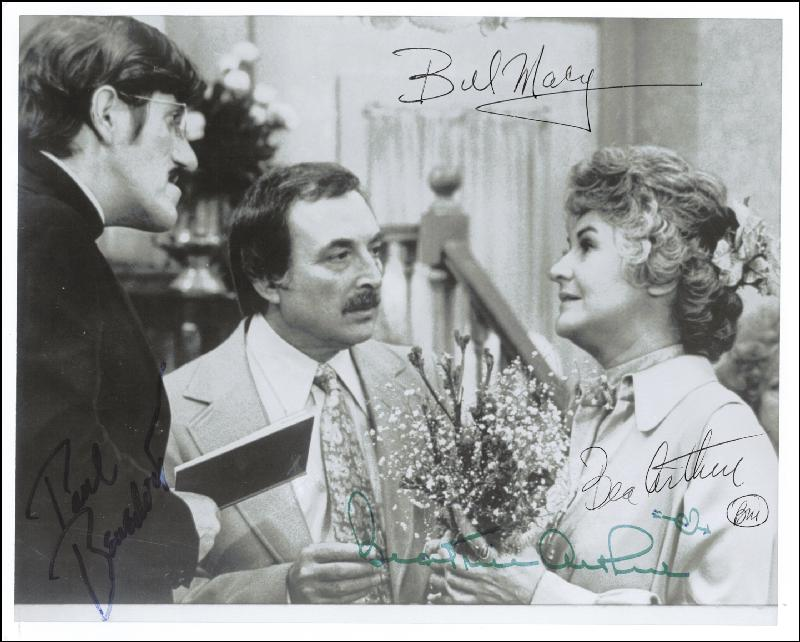 Image 1 for Maude TV Cast - Autographed Signed Photograph co-signed by: Paul Benedict, Beatrice 'Bea' Arthur, Bill Macy - HFSID 43626