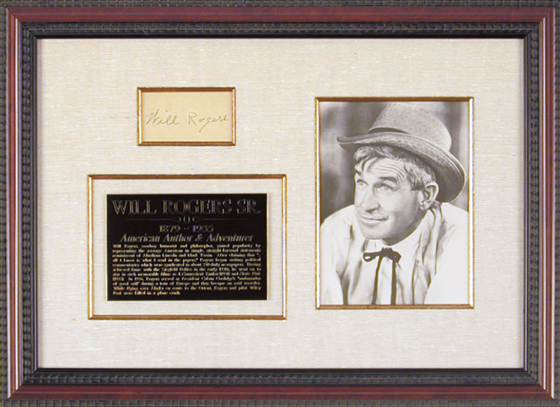 Image 1 for Will Rogers Sr. - Autograph - HFSID 43869