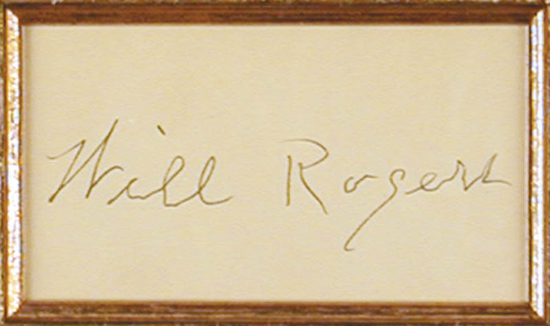Image 3 for Will Rogers Sr. - Autograph - HFSID 43869