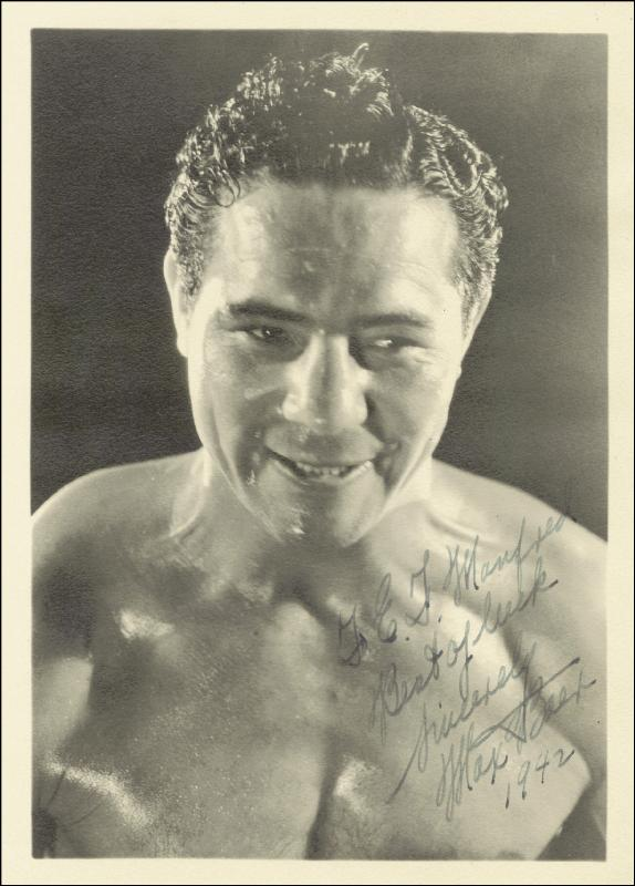 Image 1 for Max Baer - Autographed Inscribed Photograph 1942 - HFSID 43872
