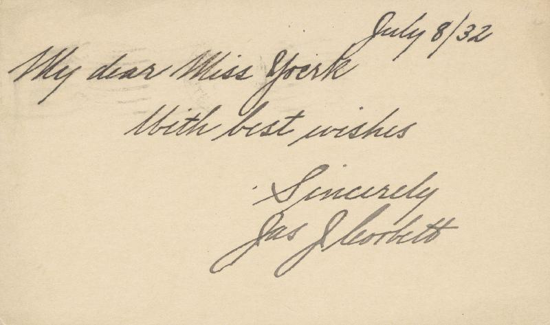 Image 1 for James J. 'Gentleman Jim' Corbett - Autograph Post Card Signed 07/08/1932 - HFSID 43889