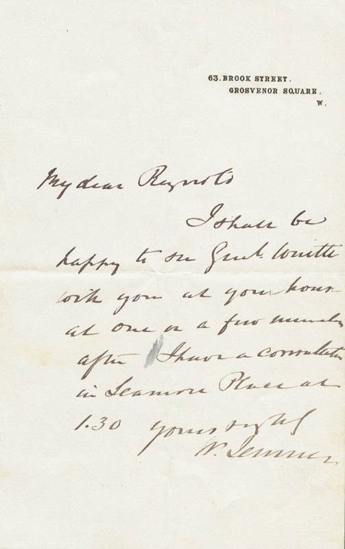 Image 1 for William '1st Baronet' Jenner - Autograph Letter Signed - HFSID 43972