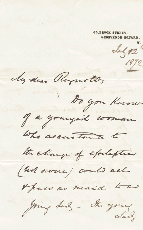 Image 3 for William '1st Baronet' Jenner - Autograph Letter Signed 07/12/1872 - HFSID 43975