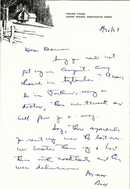 Image 1 for Associate Justice William O. Douglas - Autograph Letter Signed 08/30/1968 - HFSID 44080