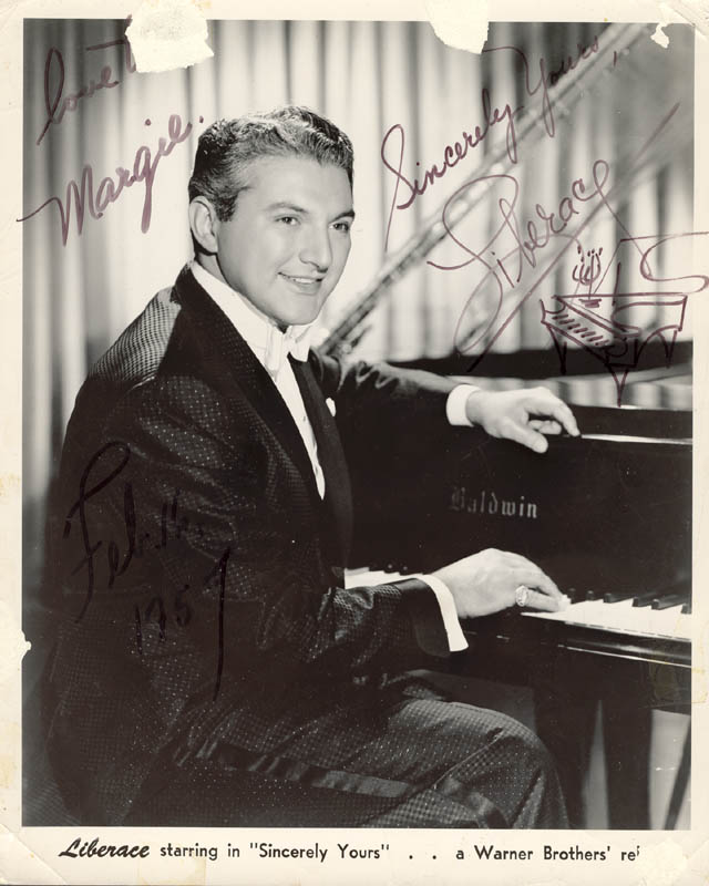 Image 1 for Liberace - Autographed Inscribed Photograph - HFSID 44300