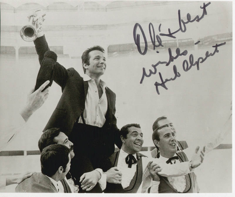 Image 1 for Herb Alpert - Autographed Signed Photograph - HFSID 44394