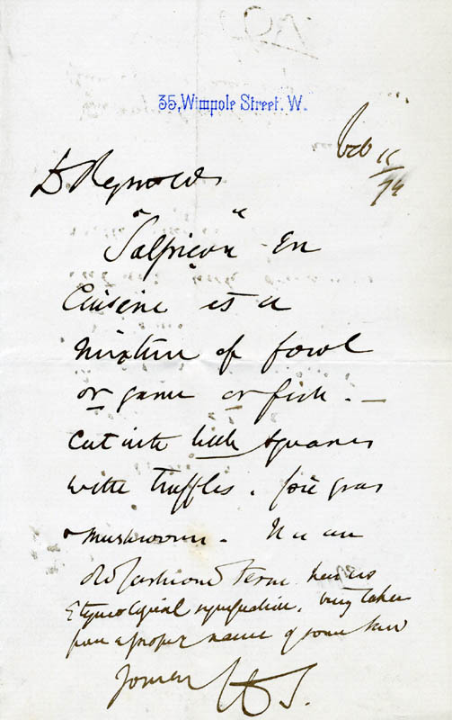 Image 1 for Henry Thompson - Autograph Letter Signed 02/11/1874 - HFSID 44438
