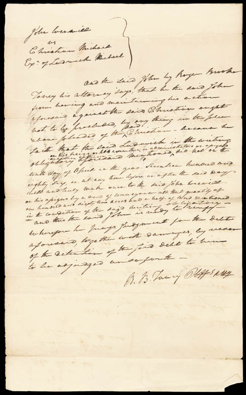 Image 1 for Chief Justice Roger B. Taney - Autograph Document Twice Signed - HFSID 4458