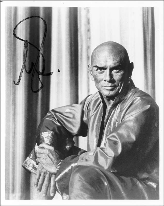 Image 1 for Yul Brynner - Autographed Signed Photograph - HFSID 45098