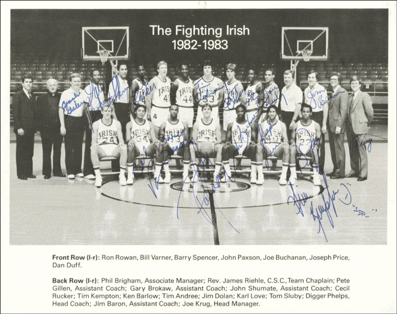 Image 1 for Notre Dame - Autographed Signed Photograph with co-signers - HFSID 45297