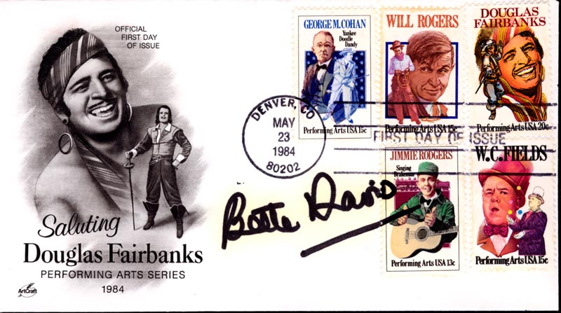 Image 1 for Bette Davis - First Day Cover Signed - HFSID 45797