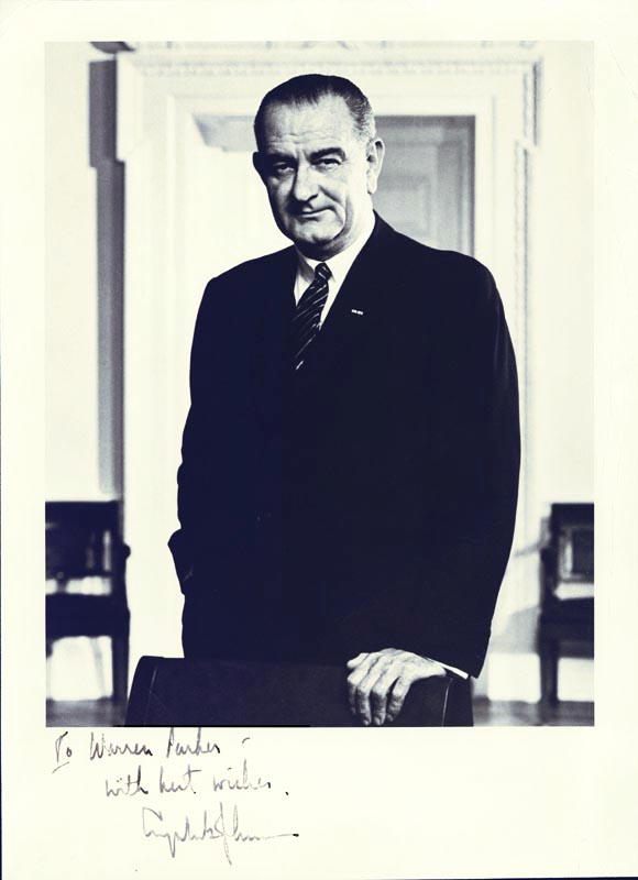 Image 1 for President Lyndon B. Johnson - Autographed Inscribed Photograph - HFSID 4593