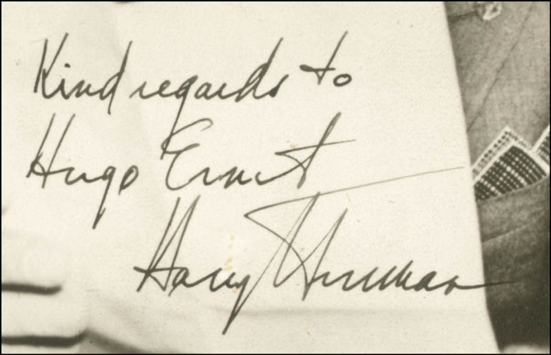 Image 3 for President Harry S Truman - Autographed Inscribed Photograph - HFSID 45983