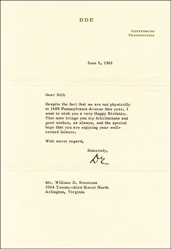 Image 1 for President Dwight D. Eisenhower - Typed Letter Signed 06/05/1961 - HFSID 46070