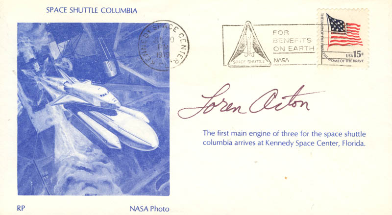 Image 1 for Loren Acton - Commemorative Envelope Signed - HFSID 46163