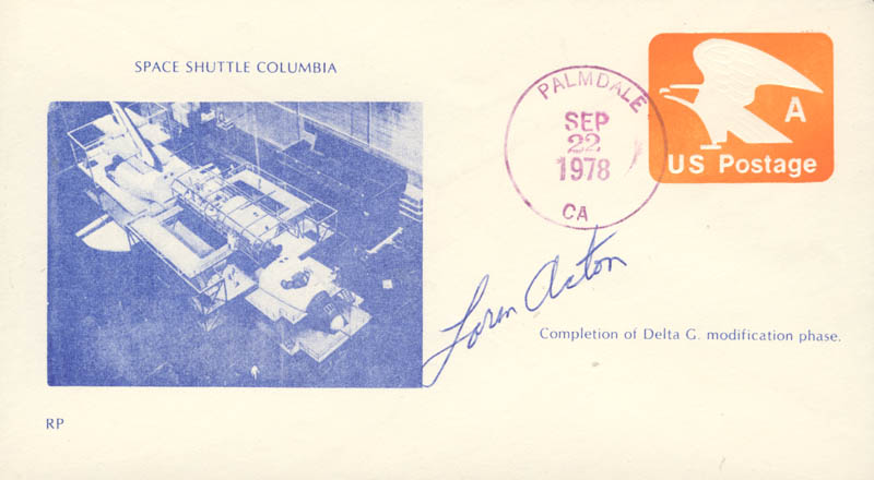 Image 1 for Loren Acton - Commemorative Envelope Signed - HFSID 46164