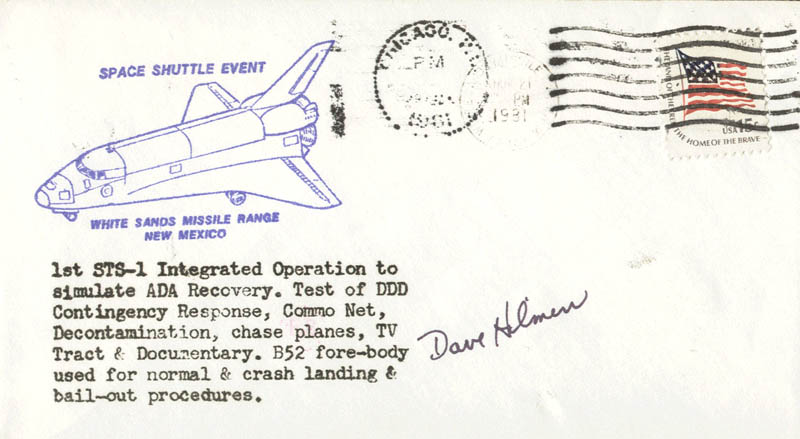 Image 1 for Colonel David C. Hilmers - Commemorative Envelope Signed - HFSID 46200