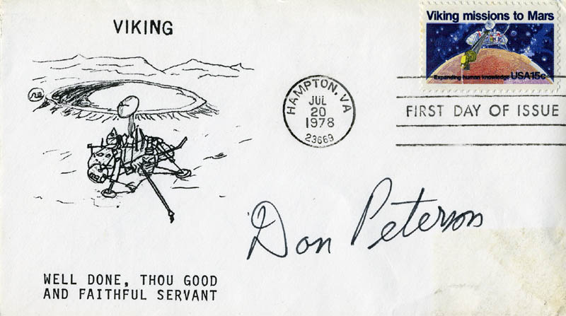 Image 1 for Colonel Donald H. Peterson - First Day Cover Signed - HFSID 46224