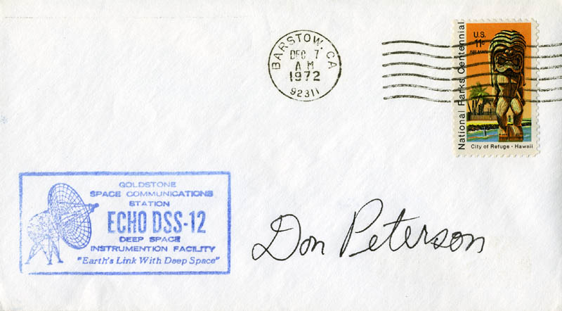 Image 1 for Colonel Donald H. Peterson - Commemorative Envelope Signed - HFSID 46225