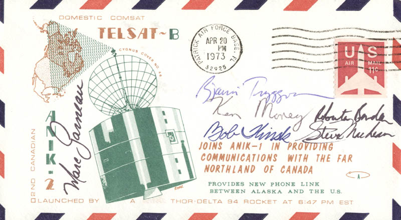 Image 1 for Marc Garneau - Commemorative Envelope Signed co-signed by: Ken Money, Roberta Bondar, Steve Maclean, Bob Thirsk, Bjarni Tryggvason - HFSID 46256