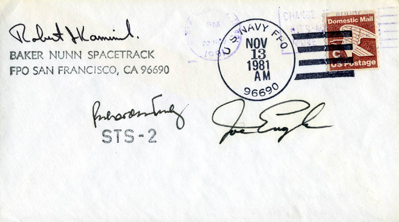 Image 1 for Vice Admiral Richard H. Truly - Commemorative Envelope Signed co-signed by: Major General Joe Engle - HFSID 46263